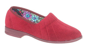 Sleepers LS392D Red Womens Casual Comfort Slippers