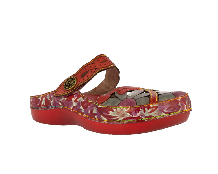 Laura Vita BICLLYO 22 Rouge Womens Casual Comfort Leather Stylish Sandals