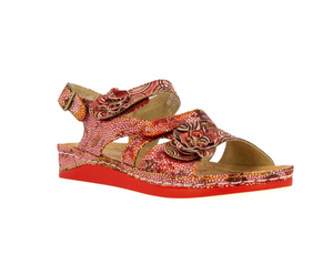 Laura Vita BRCUELO 04 Rouge Womens Casual Comfort Leather Stylish Sandals