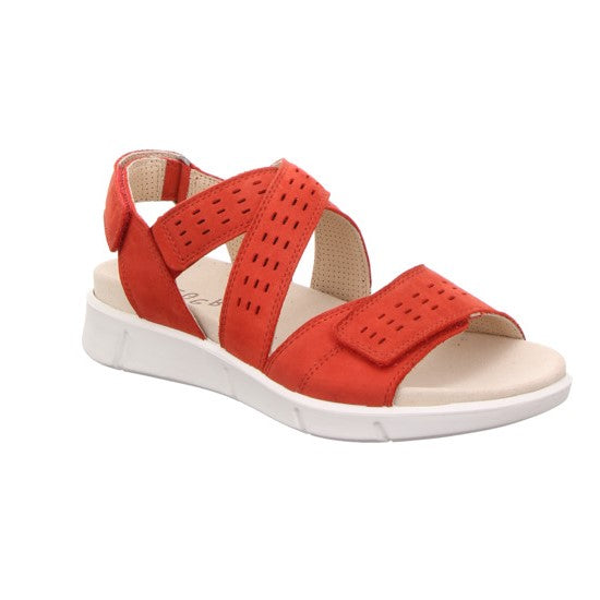 Legero 4-00740-51 Chili Red Womens Casual Comfort Open Toe Sandals