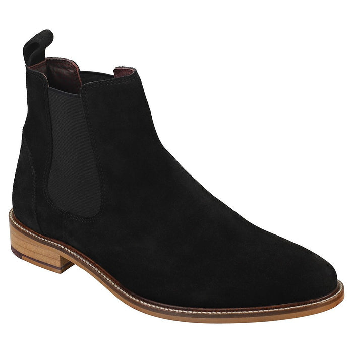 London Brogues Hamilton Black Suede Mens Casual Comfort Smart Chelsea Boots