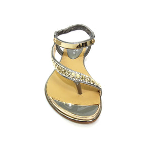 Lunar JLH753 Asia Pewter Womens Casual Comfort Toe Post Sandals