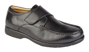 Roamers M190A Black Mens Casual Comfort Wide Fit Shoes