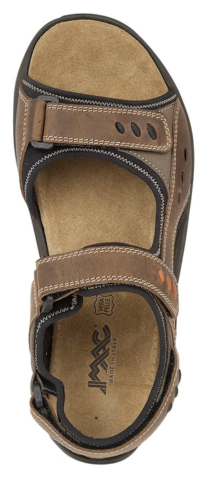IMAC M222B Brown Waxy Leather Mens Casual Sandals