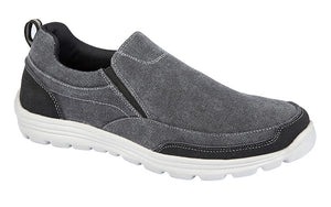 DEK M336C Grey Mens Casual Comfort Twin Gusset Slip On Shoes