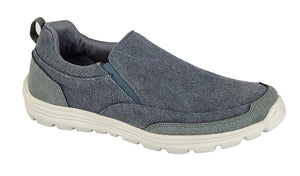 DEK M336C Navy Mens Casual Comfort Twin Gusset Slip On Shoes
