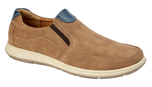 Scimitar M353BT Tan Mens Casual Comfort Slip On Shoes