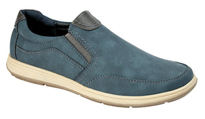 Scimitar M353C Navy Mens Casual Comfort Slip On Shoes