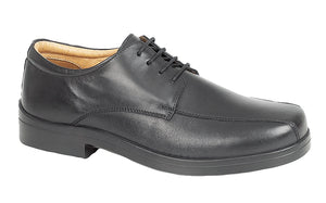 Roamers M450A Black Mens Casual Comfort Wide Fit Lace Up Shoes
