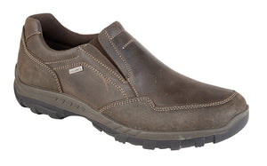 IMAC M9580B Brown Waxy Leather Mens Casual Comfort Shoes