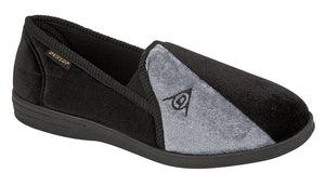 Dunlop MS417A Black/Grey Mens Casual Comfort Slippers