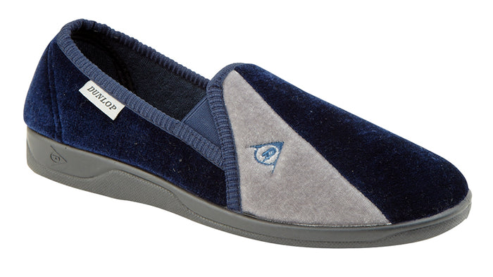 Dunlop MS417C Navy Blue/Grey Mens Casual Comfort Slippers