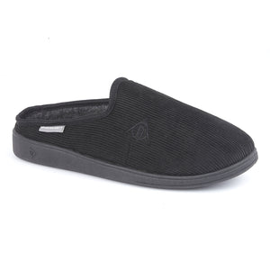 Dunlop MS430A Ted Black Mens Casual Comfort Slipper Mules