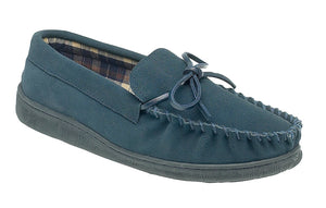 Sleepers MS461C Navy Mens Casual Comfort Suede Slippers