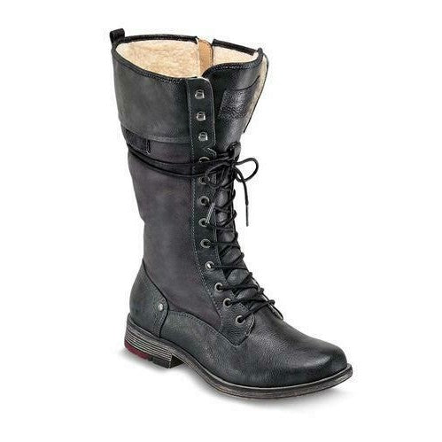 Mustang 1295-606-20 Grey Womens Mid Calf Military Style Boots