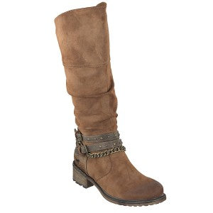 Mustang 1370-501-301 Kastanie Womens Casual Comfort Leather Mid Calf Boots