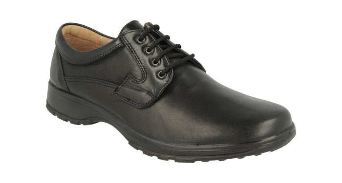 EasyB 87048A Black Mens Casual Leather Shoes