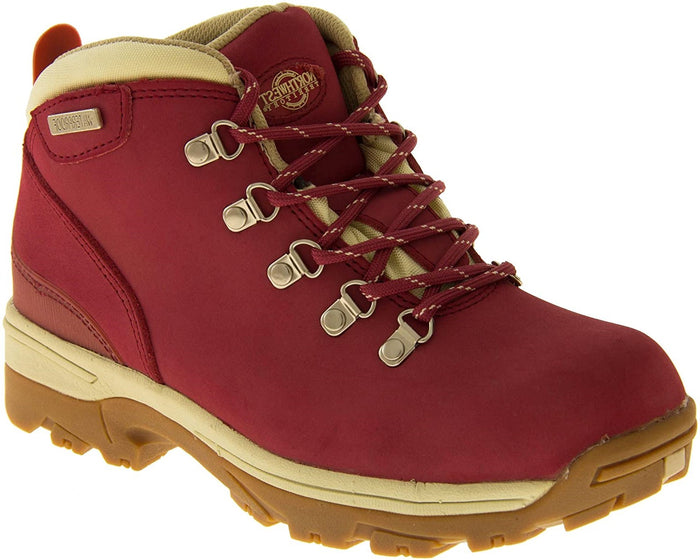 Northwest Territory Trek Burgundy Womens Walking Hiking Boots