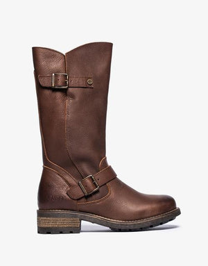 Oak & Hyde Crest Brown Womens Casual Comfort Premium Leather Calf Boots