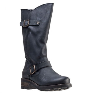 Oak & Hyde Crest Black Womens Casual Comfort Premium Leather Calf Boots