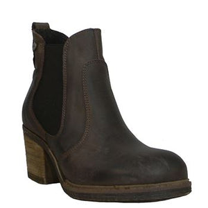 Oak & Hyde East Chelsea Brown Womens Casual Premium Leather Chelsea Boots