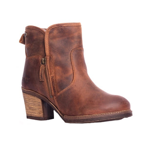 Oak & Hyde East Side Cognac Womens Premium Leather Casual Stylish Ankle Boots
