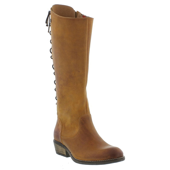 Oak & Hyde Rita Hi Cognac Womens Premium Leather Casual Stylish Calf Boots