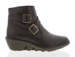 Fly London Perz914FLY Chocolate Womens Stylish Comfort Ankle Boots