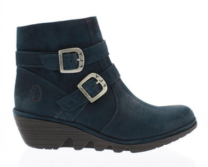 Fly London Perz914FLY Dark Petrol Womens Stylish Comfort Ankle Boots