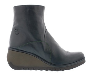 Fly London Nest056FLY Dark Petrol Womens Stylish Comfort Ankle Boots