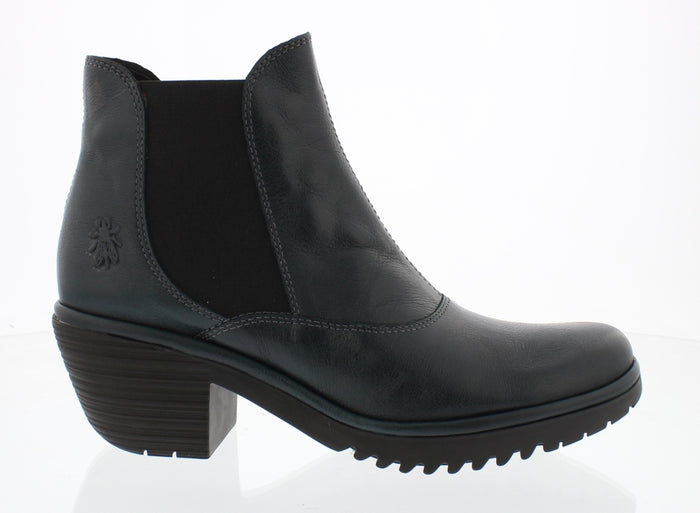 Fly London Wote078FLY Dark Petrol Womens Stylish Comfort Heeled Ankle Boots
