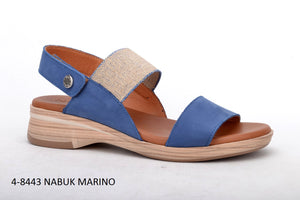 Paula Urban Nabuk Marino Womens Casual Comfort Leather Open Toe Sandals