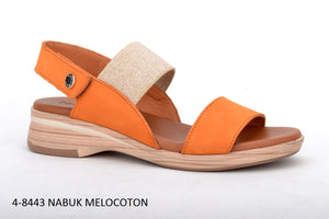 Paula Urban Nabuk Melocoton Womens Casual Comfort Leather Open Toe Sandals