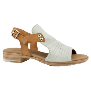 Paula Urban Vacuno Blanco Womens Casual Comfort Leather Open Toe Sandals