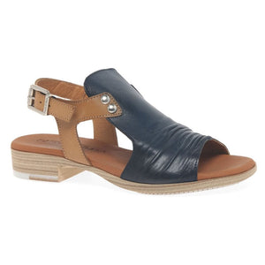 Paula Urban Vacuno Marino Womens Casual Comfort Leather Open Toe Sandals