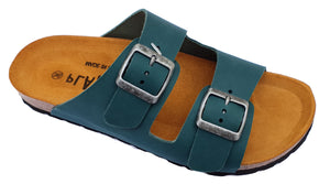 Plakton Sprinter 2 Turquesa 100010 Womens Leather Casual Buckle Slip On Sandals
