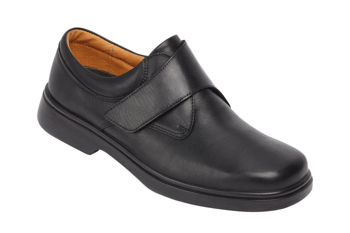EasyB 87038A Black Mens Casual Leather Shoes