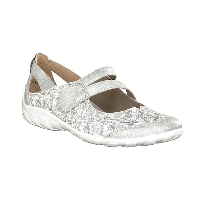 Remonte R3427-80 White Combination Womens Mary Jane Style Touch Fastening Shoes