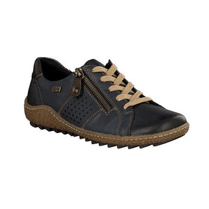 Remonte R4717-14 Navy Womens Casual Comfort Zip Up Shoes