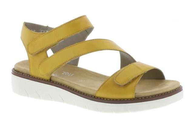 Remonte D2050-68 Yellow Womens Casual Comfort Leather Sandals