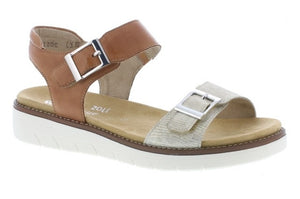 Remonte D2051-24 Brown Womens Casual Comfort Buckled Sandals