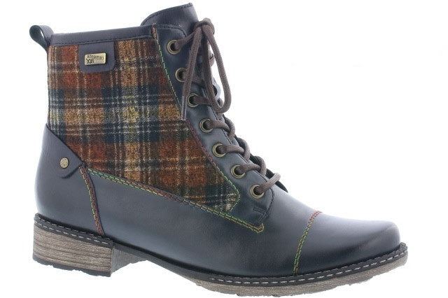 Remonte D4354-14 Navy Multi Womens Casual Comfort Ankle Boots