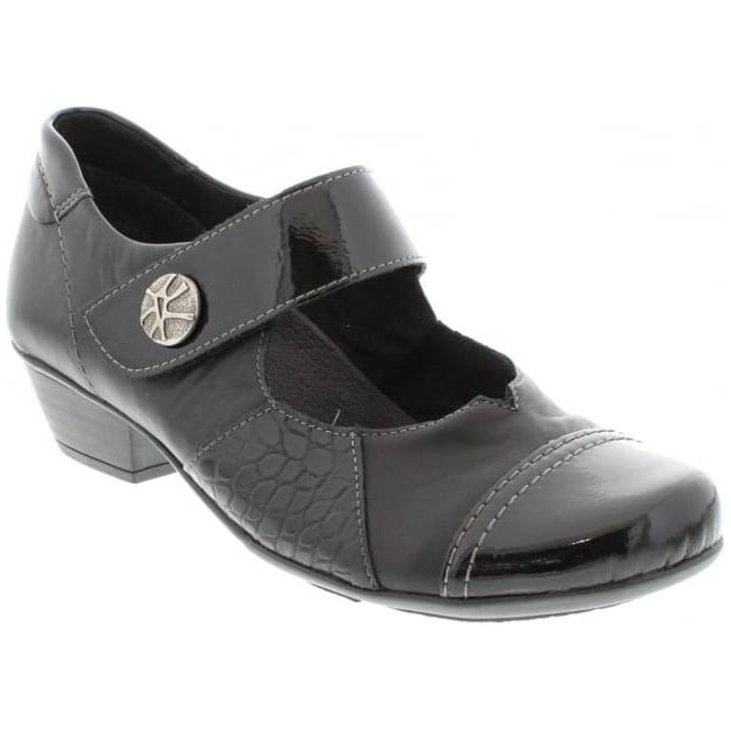 Remonte D7346-02 Black Womens Smart Comfort Touch Fastening Shoes