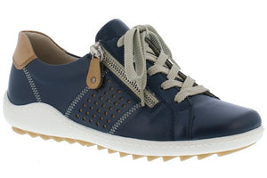 Remonte R1417-14 Navy Womens Casual Comfort Leather Shoes