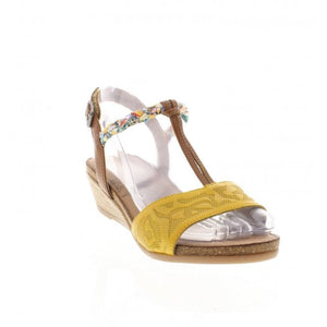 Remonte R4459-68 Yellow Combi Womens Casual Sandals