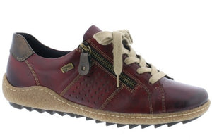 Remonte R4717-35 Red Womens Casual Comfort Zip Up Shoes
