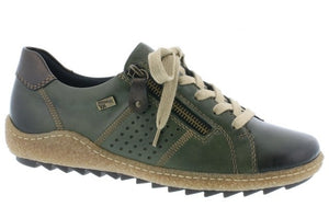 Remonte R4717-54 Green Womens Casual Comfort Zip Up Shoes