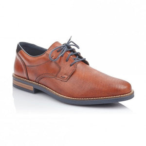 Rieker 13511-24 Brown Mens Casual Comfort Leather Lace Up Shoes