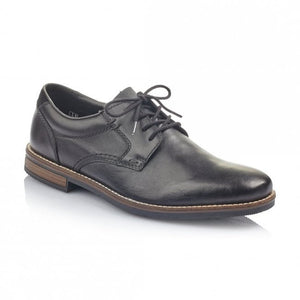 Rieker 13513-00 Black Mens Casual Comfort Leather Lace Up Shoes