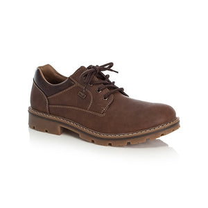 Rieker 14020-26 Brown Mens Casual Comfort Lace Up Shoes
